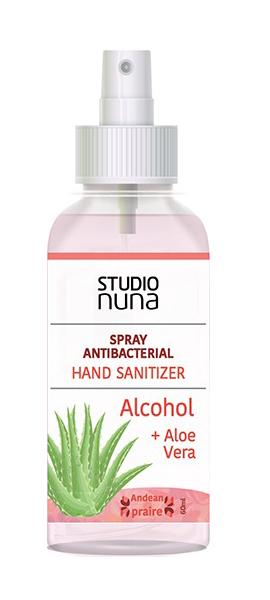 Antibacterial Manos alcohol + Aloe+ frag andean 60ml